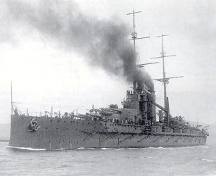 14 Rak.-Uher. tř.Tegetthoff loď Viribus_Unitis 1912
