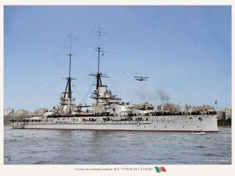 17 Italie loď třídy Conte Di Cavour-1914