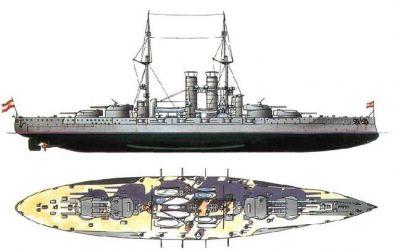 Nákres lodí tř. Teggetshoff