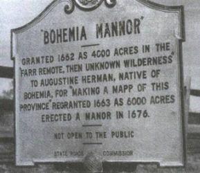 02j USA u Bohemia Manor zde tatáž tabule čitelnější