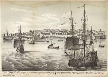 03 q Anglické fregaty, vpád do Nového Amsterdamu