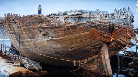 10 v kanadských vodách se zachoval vrak škuneru Maud