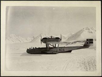 15 Dornier N 24 byl při přistání zničen- musil být opuštěn